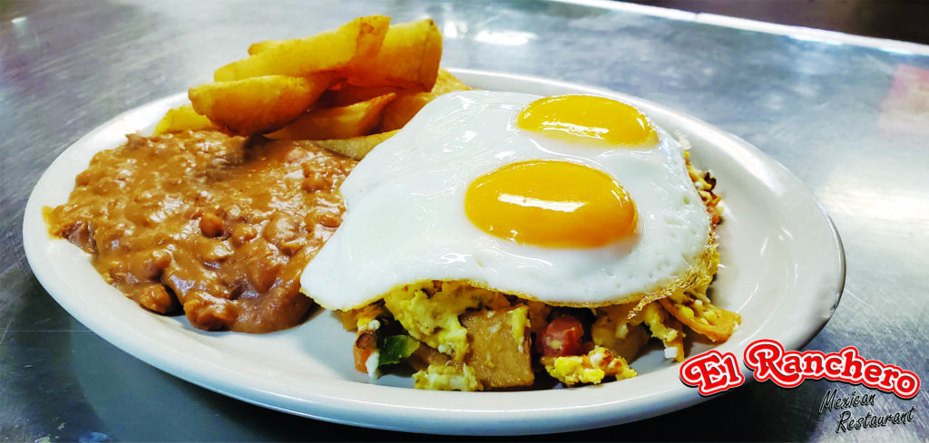 Chilaquiles with Eggs on Top